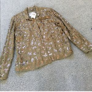 Lucky Brand sequined Jacket size Medium